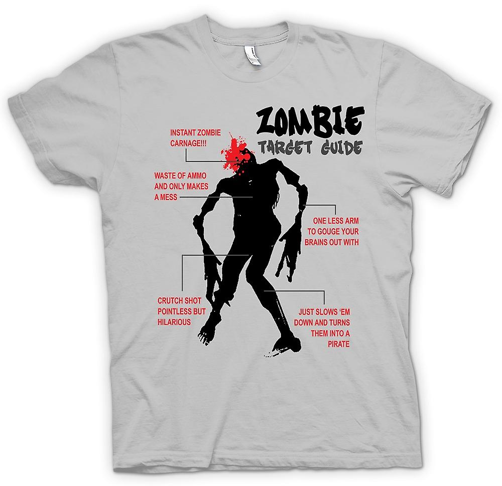 Mens T-shirt - Zombie Target Guide - Funny