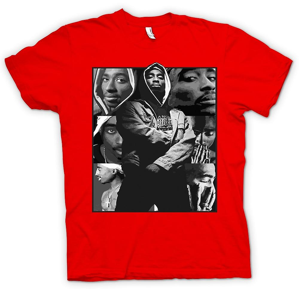 Mens t-skjorte - Tupac Collage - Hip Hop