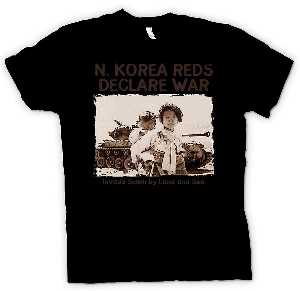 Womens T-shirt - North Korea Reds Declare War - US Military