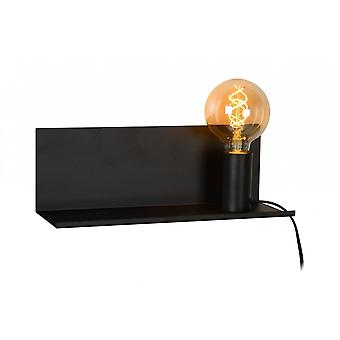 Lucide Sebo Modern Rectangle Metal Black Bedside Lamp
