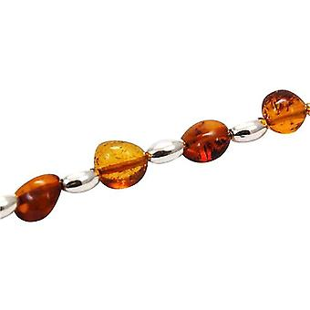 The Olivia Collection Sterling Silver Amber Bead Bracelet