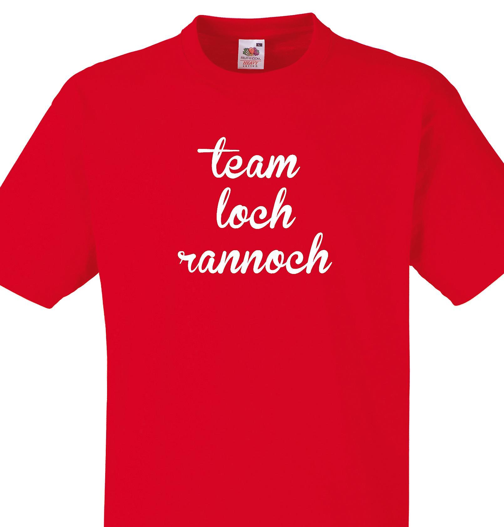 Team Loch rannoch Red T shirt