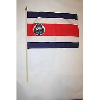 Costa Rica Hand Held Flag
