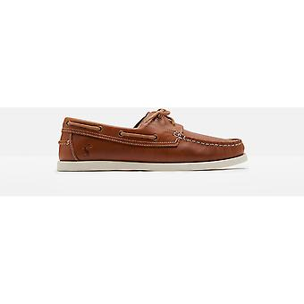 Joules Mens Swinton Casual Leather Padded Lace Up Deck Shoes