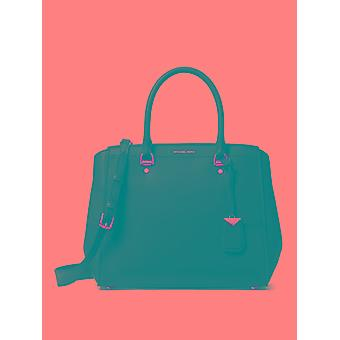 Michael Kors Benning Black Leather Handbag