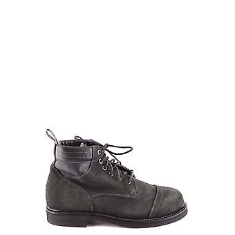 Stone Island Petrol Suede Ankle Boots