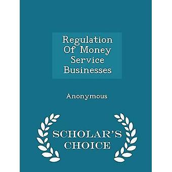 Verordening van geld Service bedrijven geleerden keuze editie door de Verenigde Staten Congres huis van vertegenwoordi