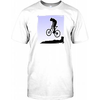 Terrengsyklist å få luft - kult Design Mens T-skjorte