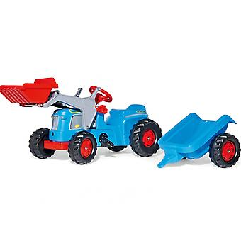 Rolly Kiddy Classic Tractor With Rolly Kid Trailer And Frontloader