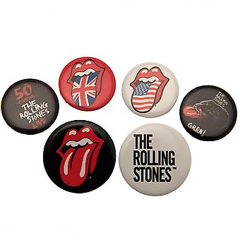 The Rolling Stones knop Badge Set