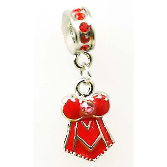 TOC BEADZ Red Crystal Corset 4mm x 37mm Dangle Bead