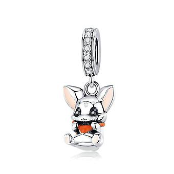 Sterling silver pendant charm Bunny