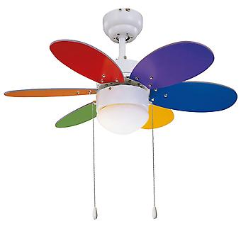 Ceiling fan RAINBOW COLOR 76cm / 30