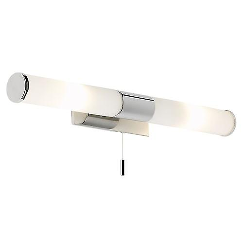 Saxby EL-257-WB Romford IP44 25W Wall Light w/ Chrome effect plate & matt opal glass