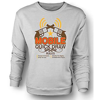 Kids Sweatshirt Mobile Quick Draw Rules - Funny