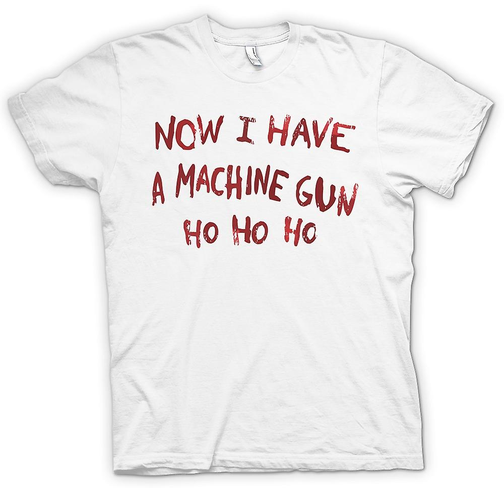 Womens T-shirt - Now I Have A Machine Gun Ho Ho Ho - Die Hard Inspired