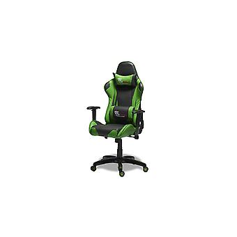 Furnhouse Gaming Chair Pit Stop, Green/Black, Plastic Base, 66x65x127 cm