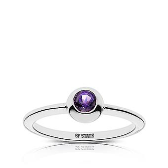 San Francisco State University Sf State Engraved Amethyst Ring