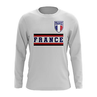 France Core Football Country Long Sleeve T-Shirt (White)