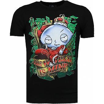 Rich Stewie-T-shirt-Black