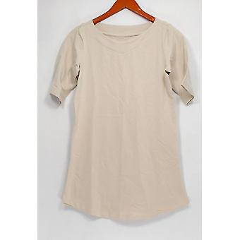 Denim & Co. Women's Top XXS Essentials Perfect Jersey Beige A307452
