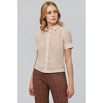 Louche Chelley Dobby Fabric Shirt Nude