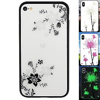 Retour Cover Magic Glass pour Apple iPhone 6/6S Bloem1