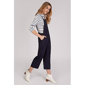 Joy Davis Pinafore Jumpsuit Navy