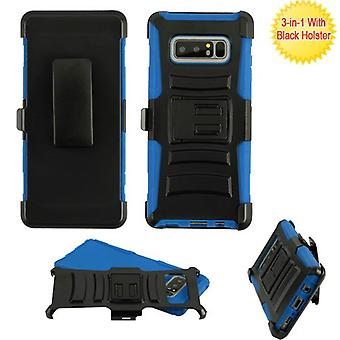 ASMYNA Black/Blue Advanced Armor Stand Protector Cover w/ Holster  for Galaxy Note 8