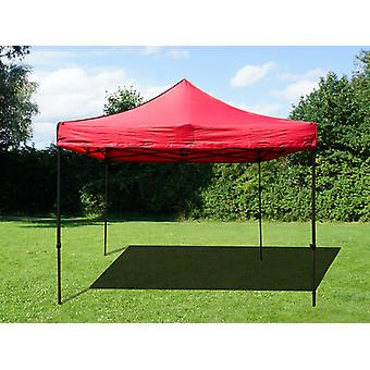 Vouwtent/Easy up tent FleXtents Easy up pavillon Basic v.2, 4x4m Rood