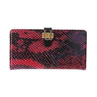 iPhone 6/6s Plus Case - 5.5 Inch Luxe Exotic Slider Folio Wallet Snake Red