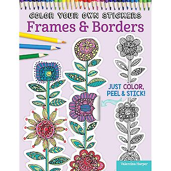 Design Originals-Color Your Own Sticker Frames & Borders DO-5589