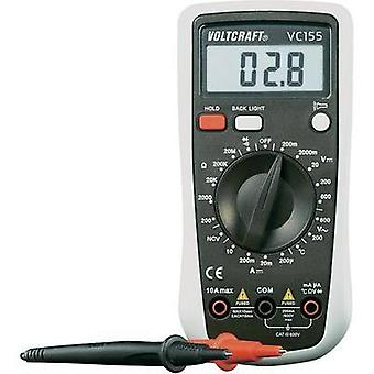 Handheld multimeter digital VOLTCRAFT VC155 Calibrated to: ISO standards CAT III 600 V Display (counts): 2000