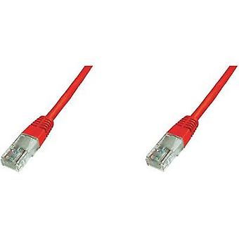 RJ49 Networks Cable CAT 5e U/UTP 0.50 m Red UL-approved Digitus Professional