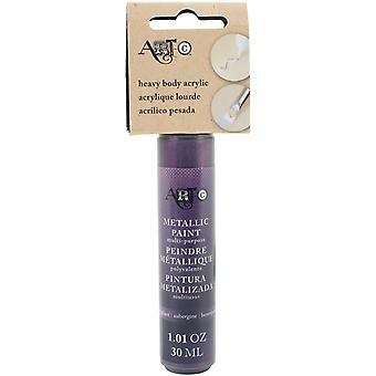 Kunst-C Heavy Body Acryl 30ml-Metallic Aubergine HBA-25995
