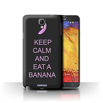 STUFF4 Case/Cover voor de Samsung Galaxy Note 3 Neo/eet een banaan/roze/Keep kalm