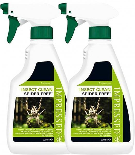 2 X 500ml Impressed Spider Free Repellent Spray - The Only Hse Approved Spider Repellent In The Uk