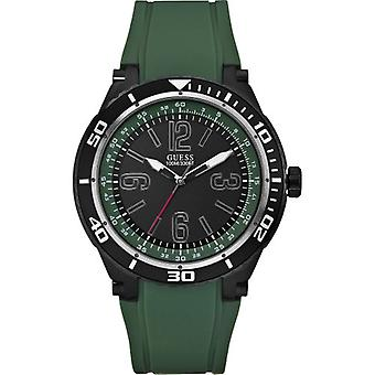 Guess W0044G6 Mens MARATHON Black Green Watch