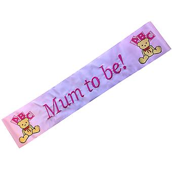 Baby Shower 'Mum To Be' Pink Ribbon Sash