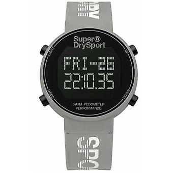 Superdry Unisex Digi Pedometer Grey Silicone Strap SYL203E Watch