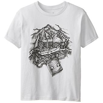 Boys Minecraft T-shirt | Mine Craft Tshirt | Official | SQUID PRO QUO | Youth | 2-4 | SILVER (US XS)