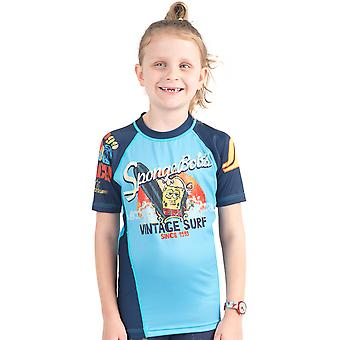 Fusion Fight Gear Kid's Sponge Bob Vintage Surf Short Sleeve Rashguard