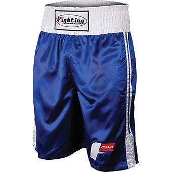 Fighting Sports Pro Stock Boxing Trunks - Blue/White