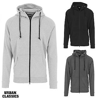 Urban classics men's Zip Hoody heavy interlock Raglan