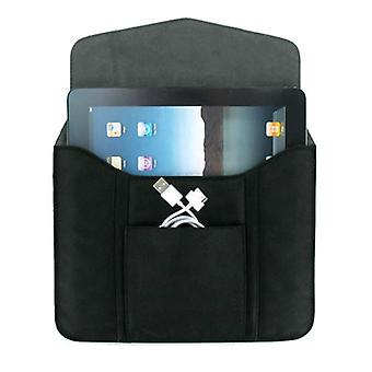 Leather Tablet Sleeve for iPad 1 & 2, Motorola Xoom, HP Touchpad - Black