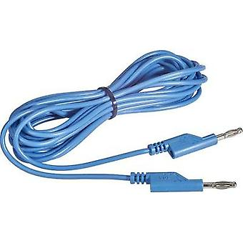 Test lead [ Banana jack 4 mm - Banana jack 4 mm] 5 m Blue VOLTC