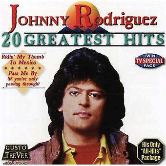 Johnny Rodriguez - 20 Greatest Hits CD] USA importerer