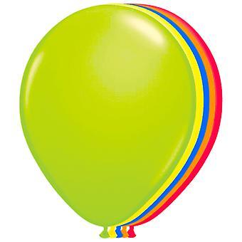 Balony neon neon 100 St. balony partia 80 's 90 's 25 cm neon balony