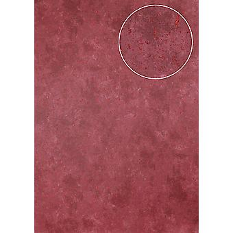 Stone tiles wallpaper Atlas ICO-5073-4 non-woven wallpaper smooth mottled shimmering Red Ruby-Red 7,035 m2