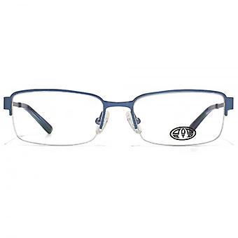 Animal Payne Rectangle Half Rim Glasses In Blue
